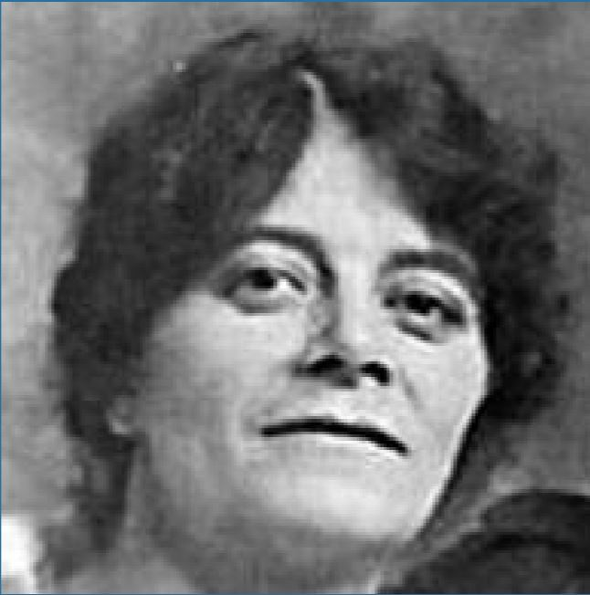 Black and white photograph of Edith Garrud.